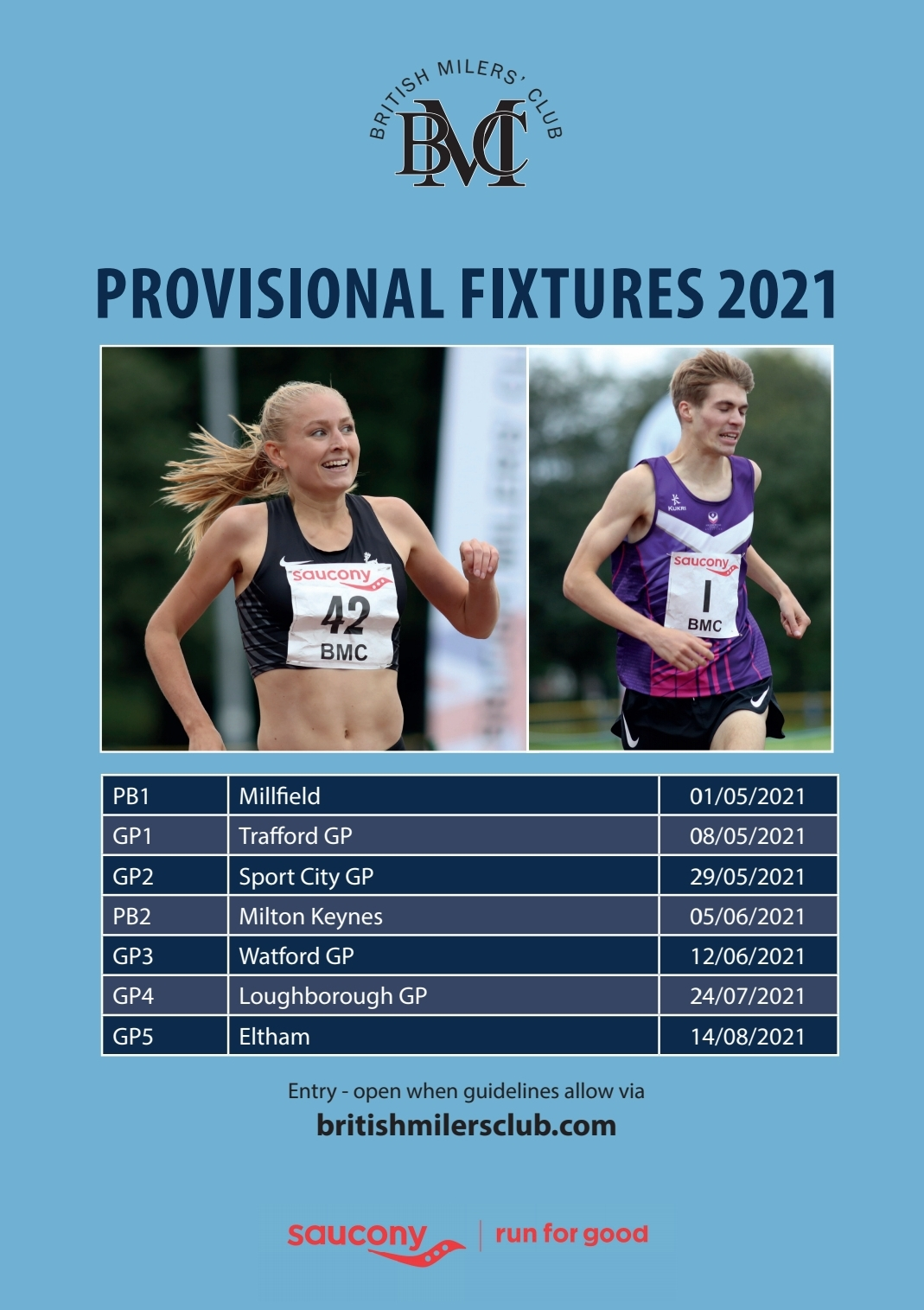 Provisional Fixtures 2021