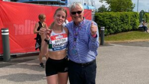 Keely Hodgkinson with Barrie Wells