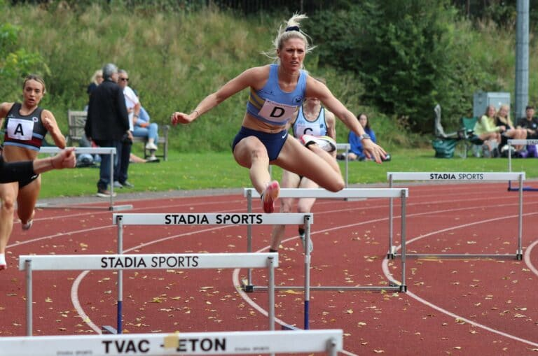 Jessie Knight on her way to a league record at Eton (credit: James Rhodes)