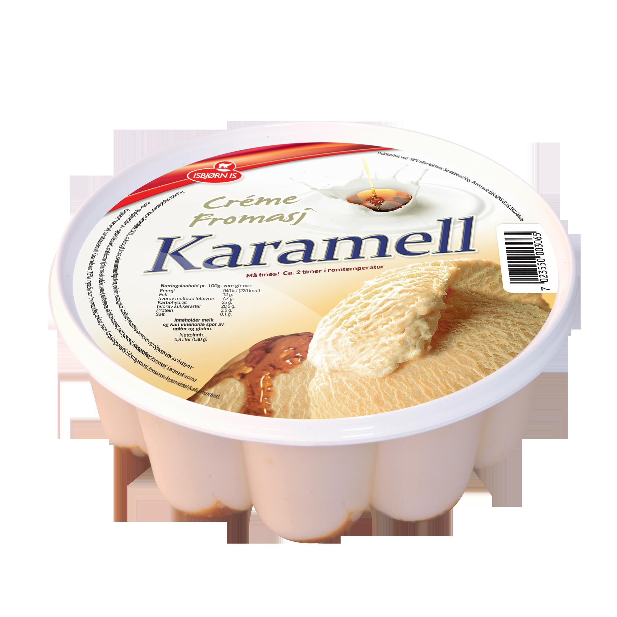 Créme fromasj med karamellsmak.