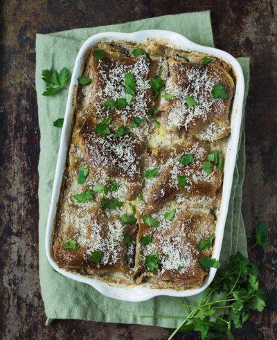 Recept: Vegetarisk lasagne | Frk. Kræsen