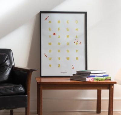 Pasta Alphabet 50x70cm poster by Dnilva