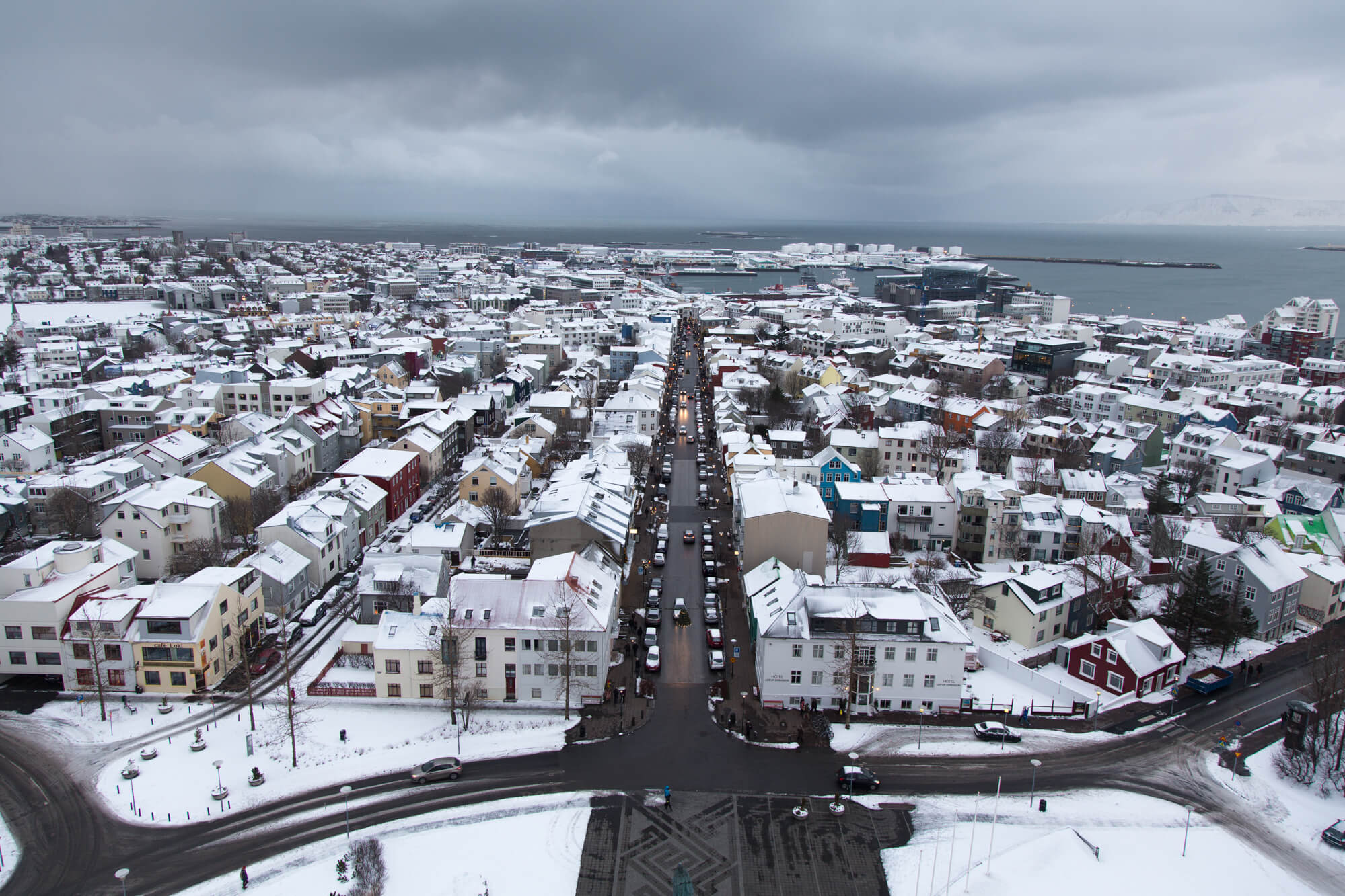 Utsikt från Hallgrimskirkja, Reykjavik