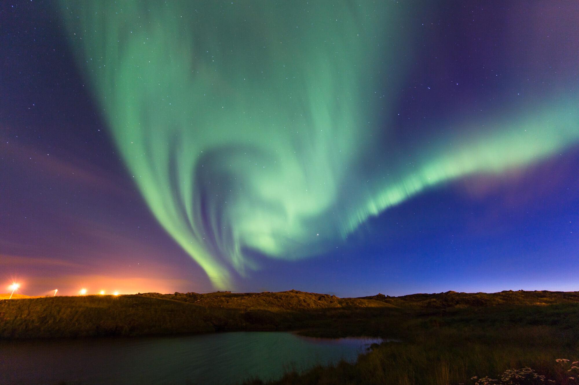 Norrsken Aurora Borealis på Island