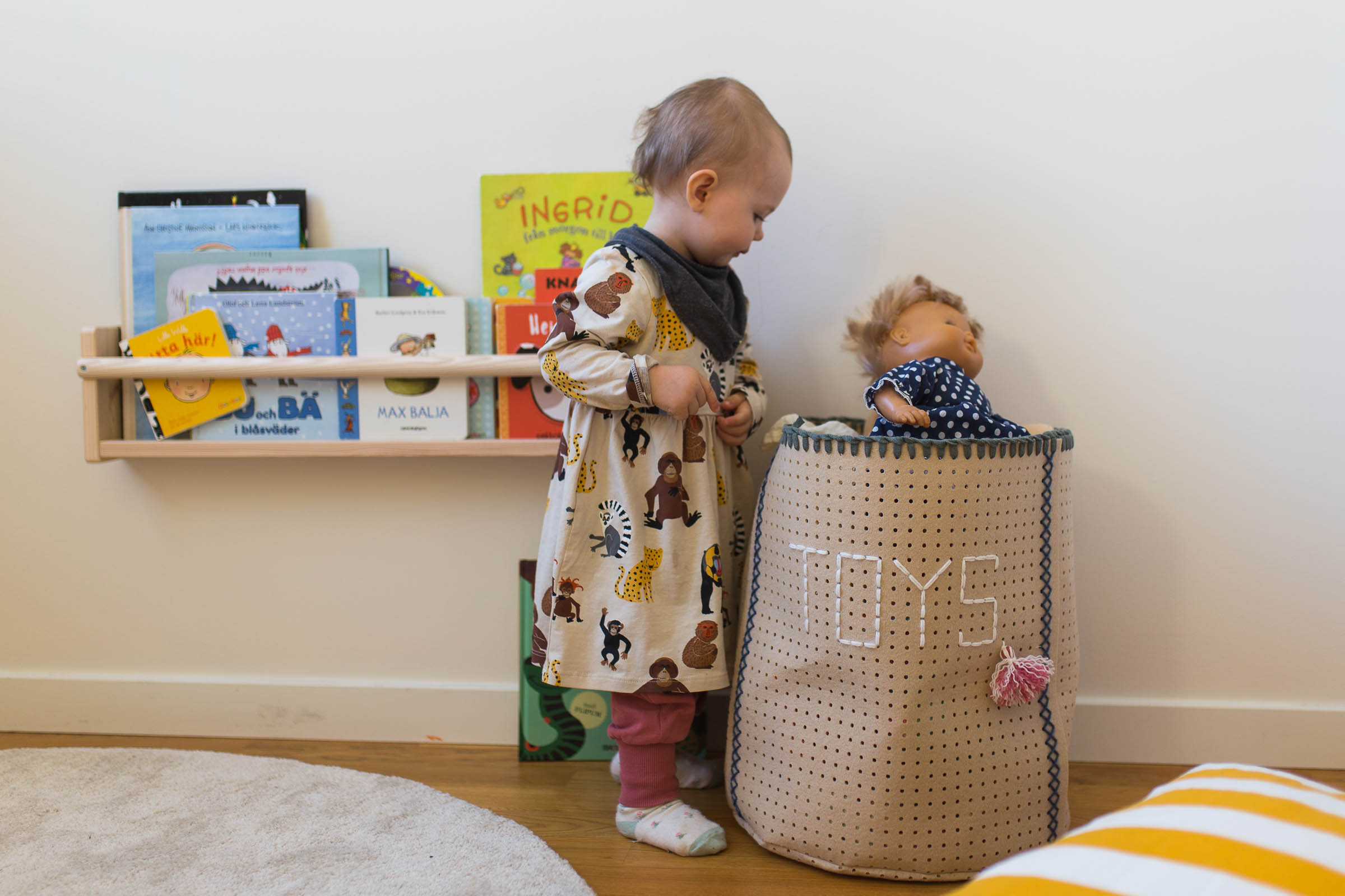 DIY - Leksaksförvarin, hålad filt