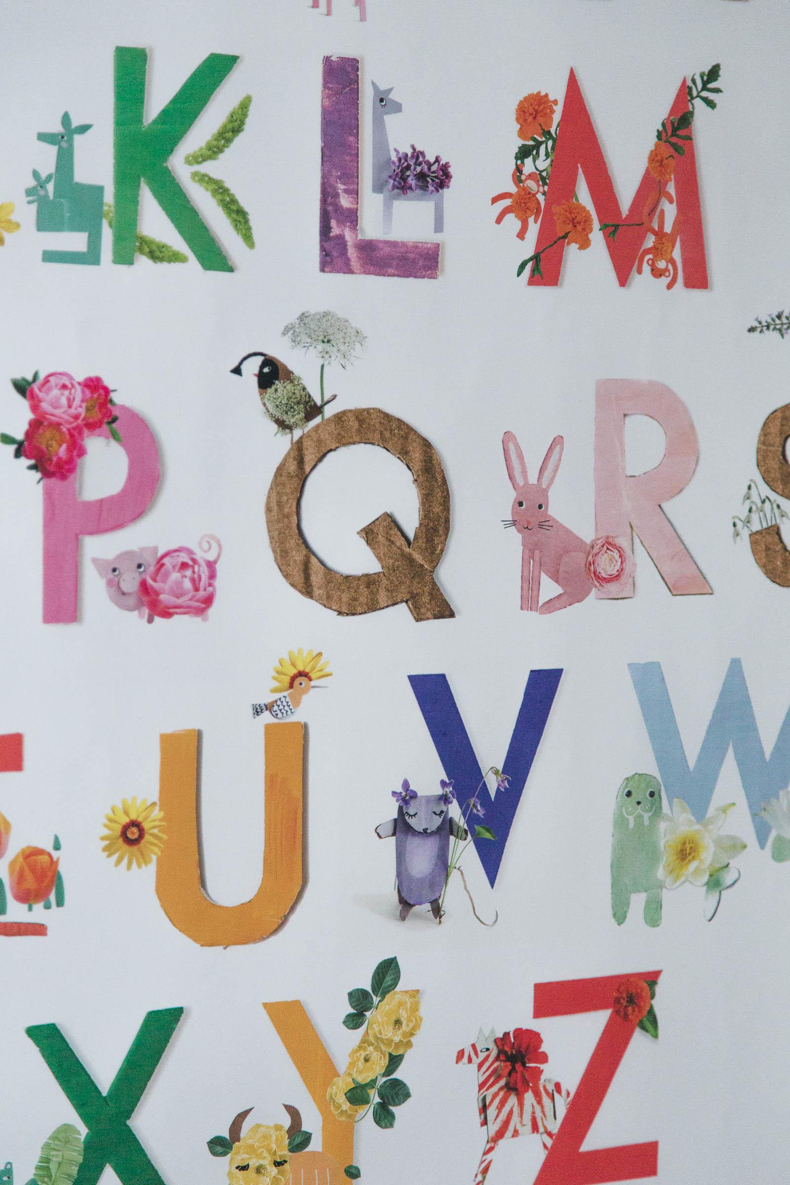 Eddas rum - Flower safari alphabet poster