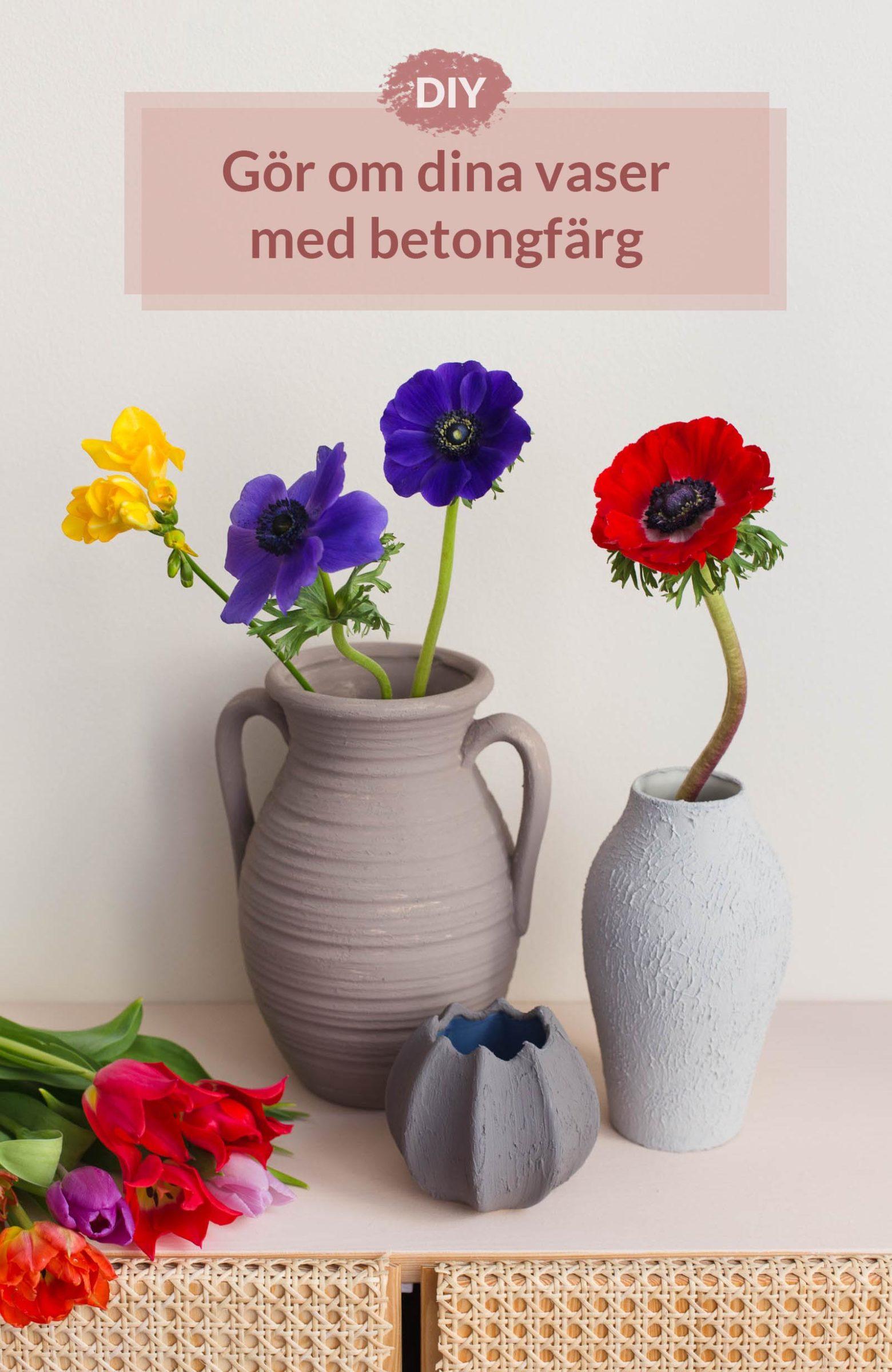 DIY - Gör om en vas med betongfärg