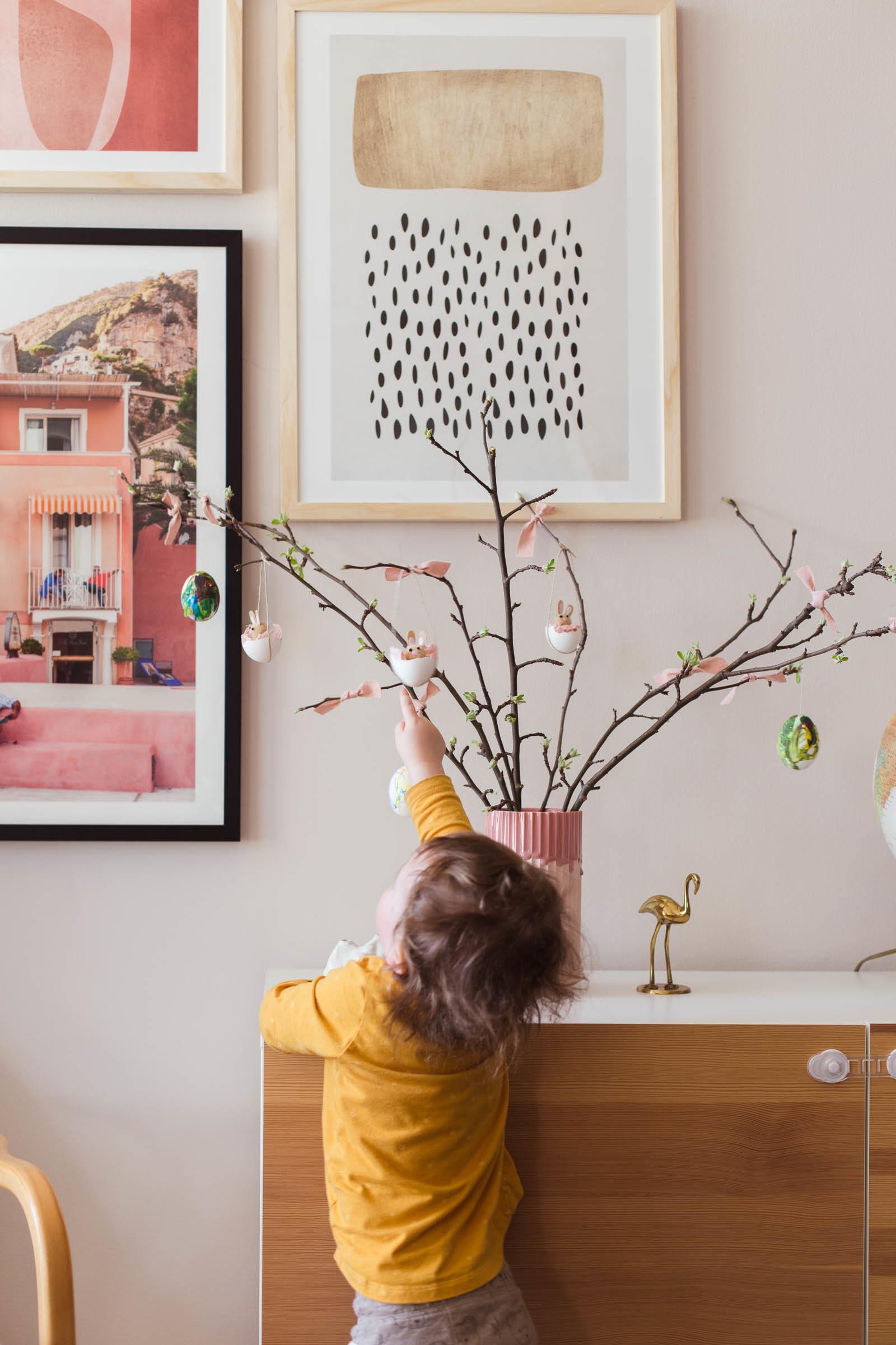 Rosa påskris - hemmapåsk
