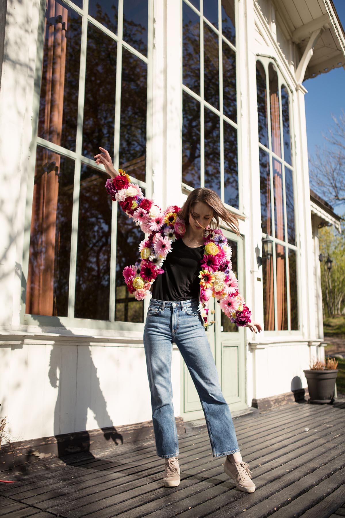 DIY blomjacka - Dnilva