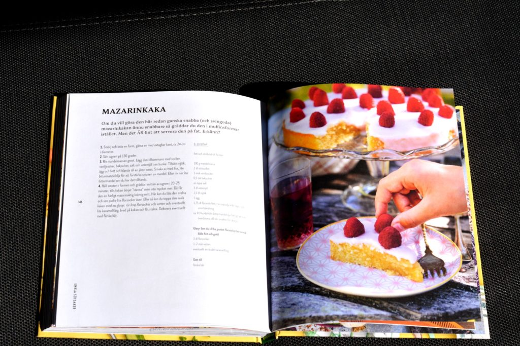 Recept på Mazarinkaka ur vegetariska kokboken Kaosvego av Lisa Bjärbo och Sara Ask.