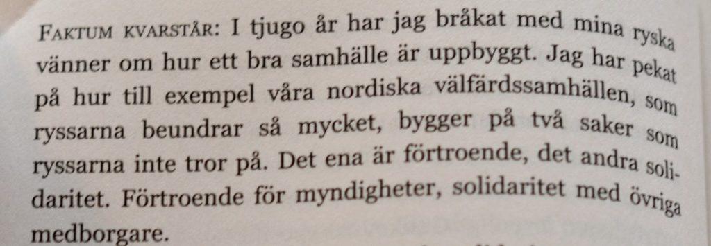 Citat ur Sammetsdiktaturen av Anna-Lena Laurén