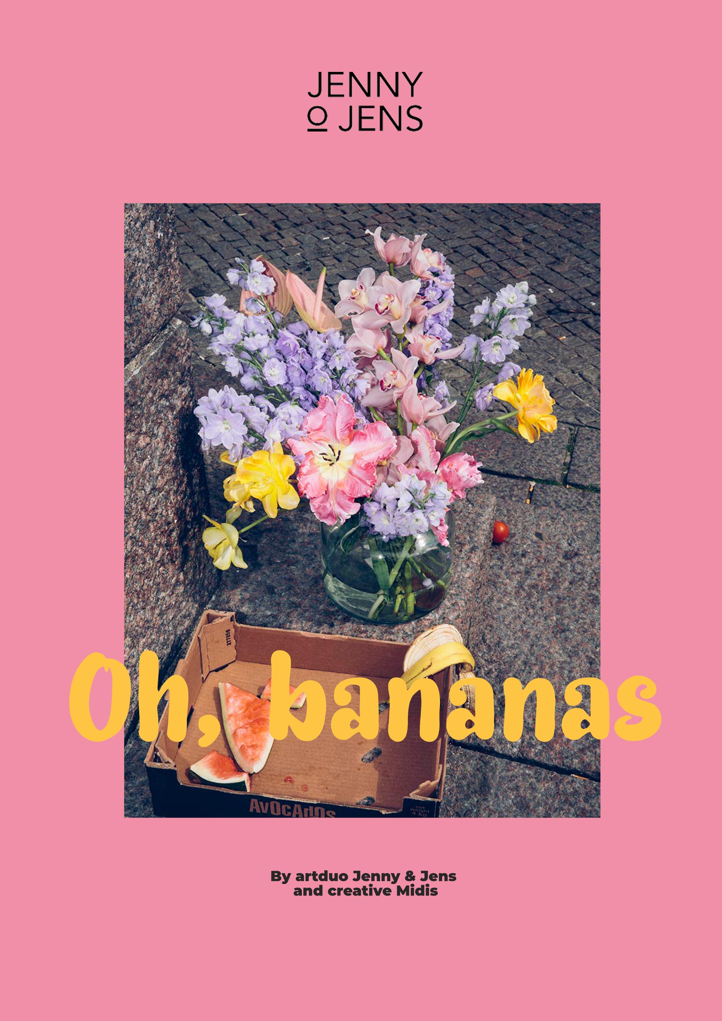 Oh, bananas - a flowerful artprint