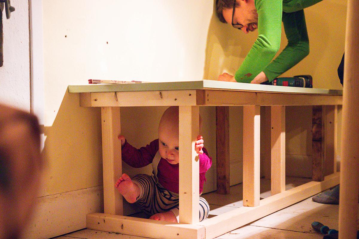 bygga en kökssoffa