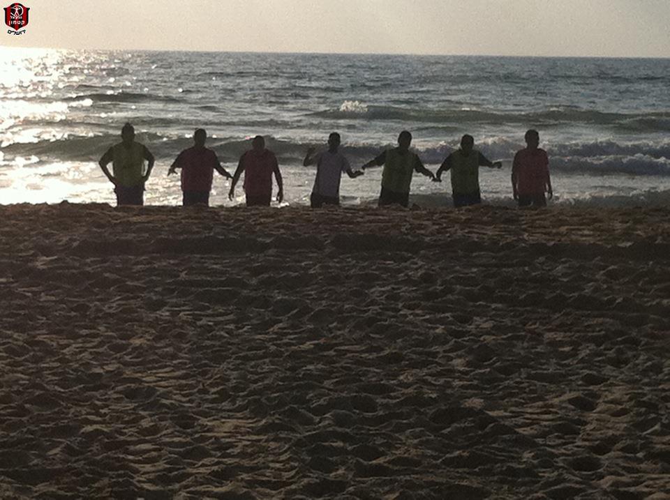 אימון בחוף הים