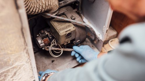 Knockbracken fuels repairing boiler