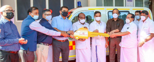 Muthoot Finance donates ambulance for the use of palliative care Patients of IGCH Hospital