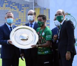 Remise du trophée du champion de Botola au Raja de Casablanca