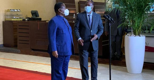Alassane Ouattara et Konan Bédié