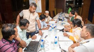 Cyclone and Landslide Simulation Exercise in Bangladesh