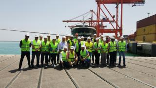 Port training participants at the Port of Mersin