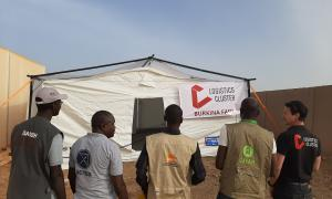 Media Image : Kaya, Burkina Faso, hand over of four storage tents loaned by WFP to OXFAM, DRC, NRC and ACTED