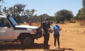 Assessment of an open space for governnment emergency warehousing with Bulawayo Provincial Development Coordinator's office members of the Bulawayo Civil Protection Unit
