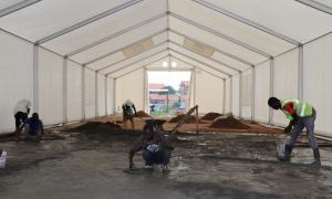 Media Image : 200511_MSU installation_John Garang infectious disease unit