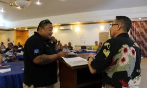 Media Image : Warehousing activity at Logistics Cluster Sub-Regional Workshop (Micronesia)