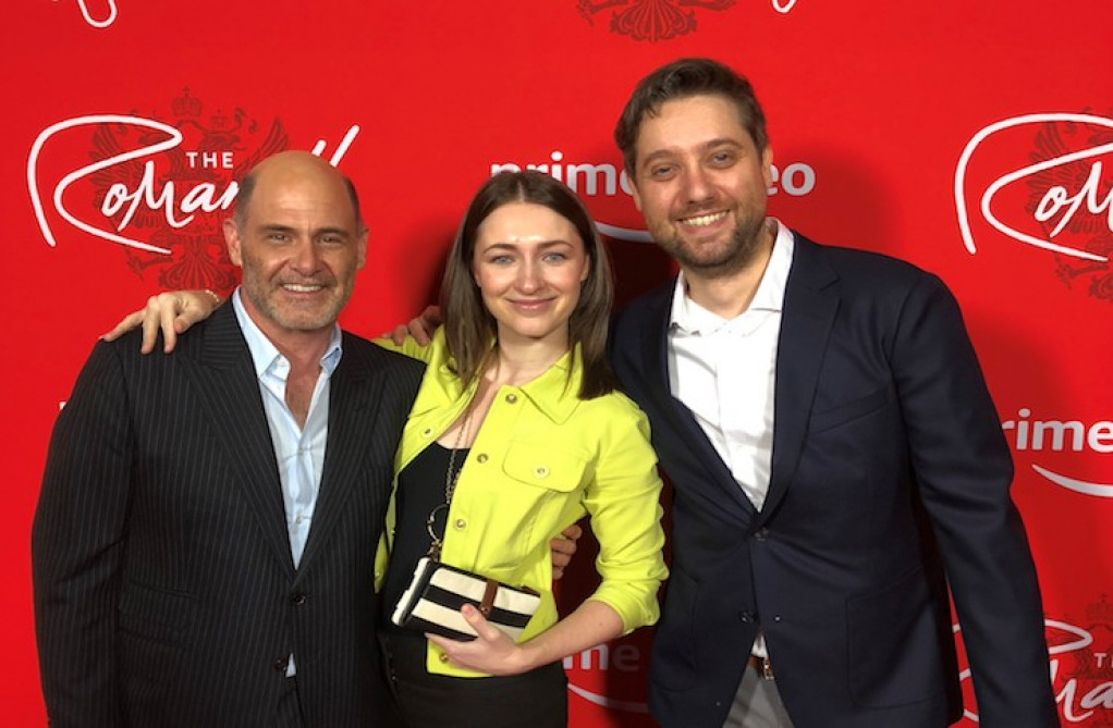 Giona Ostinelli & Sonya Belousova with Matt Weiner