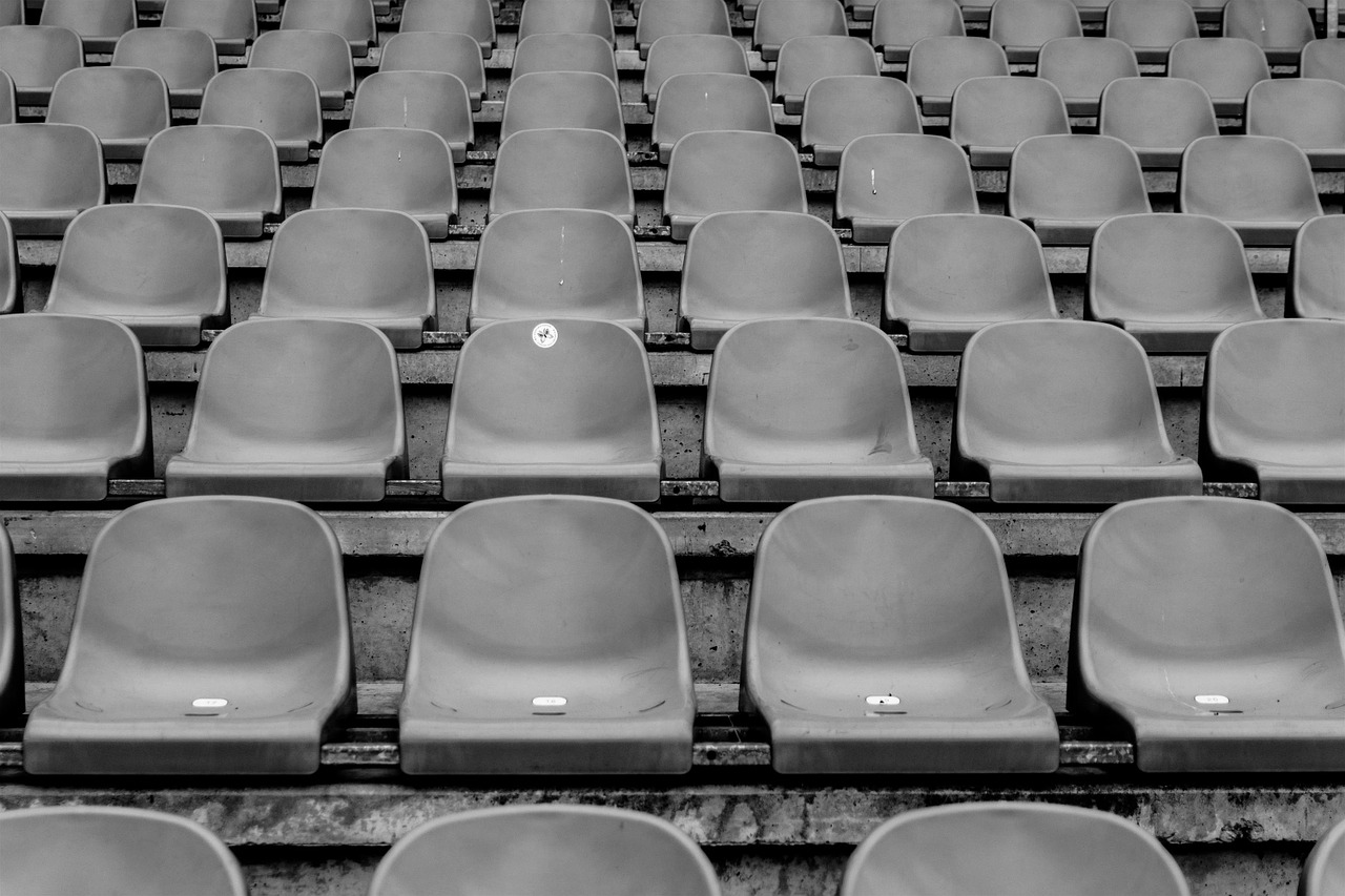 Empty chairs at arena