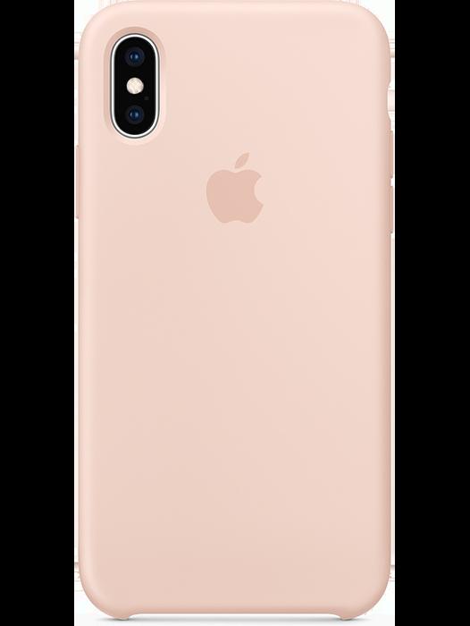 iPhone Xs silikondeksel Rosa