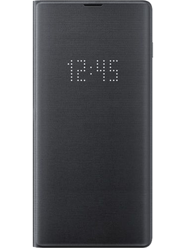 L-View Cover Galaxy S10+ Svart