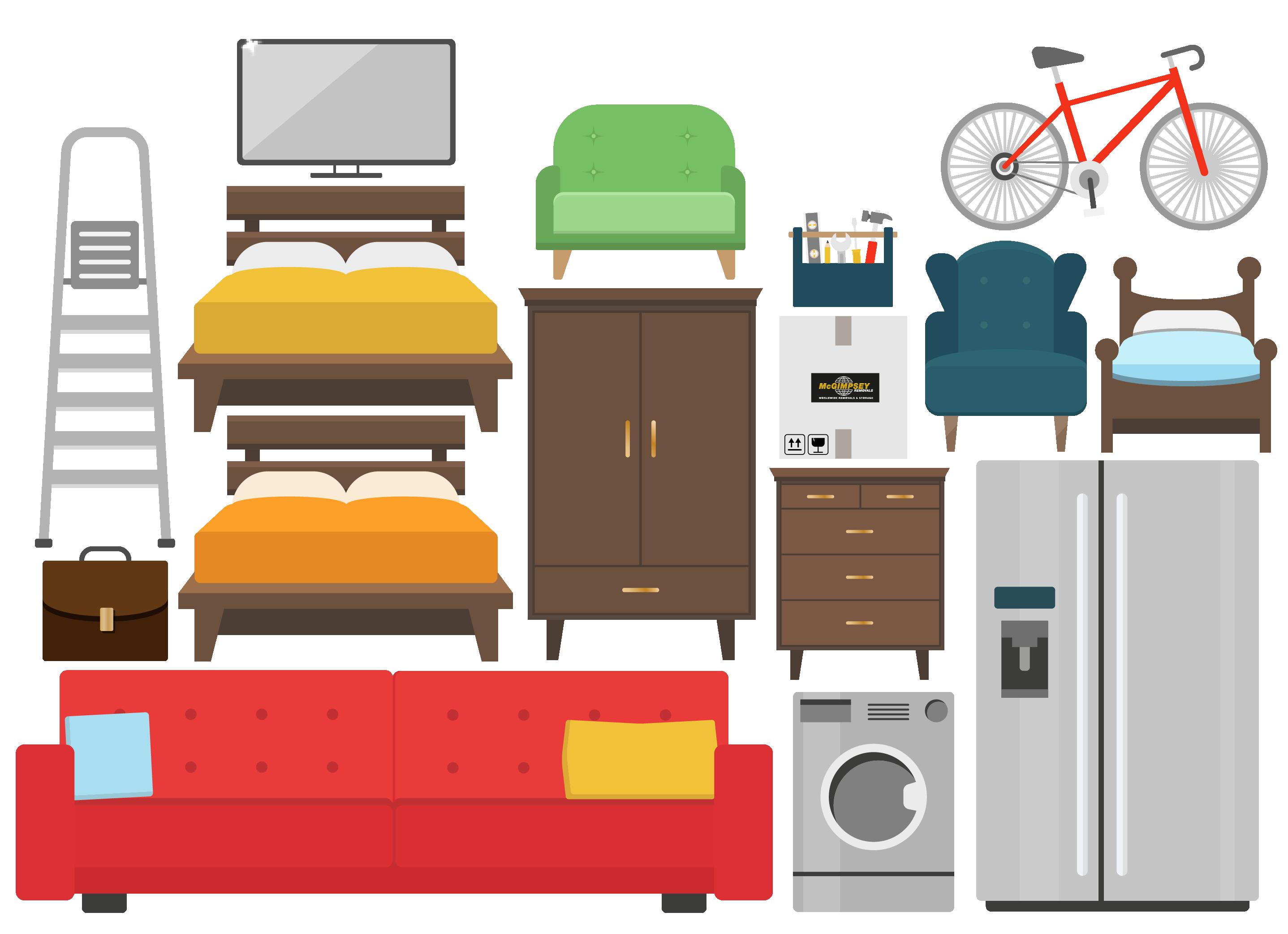 Large Mc Gimpseys illustration furniture