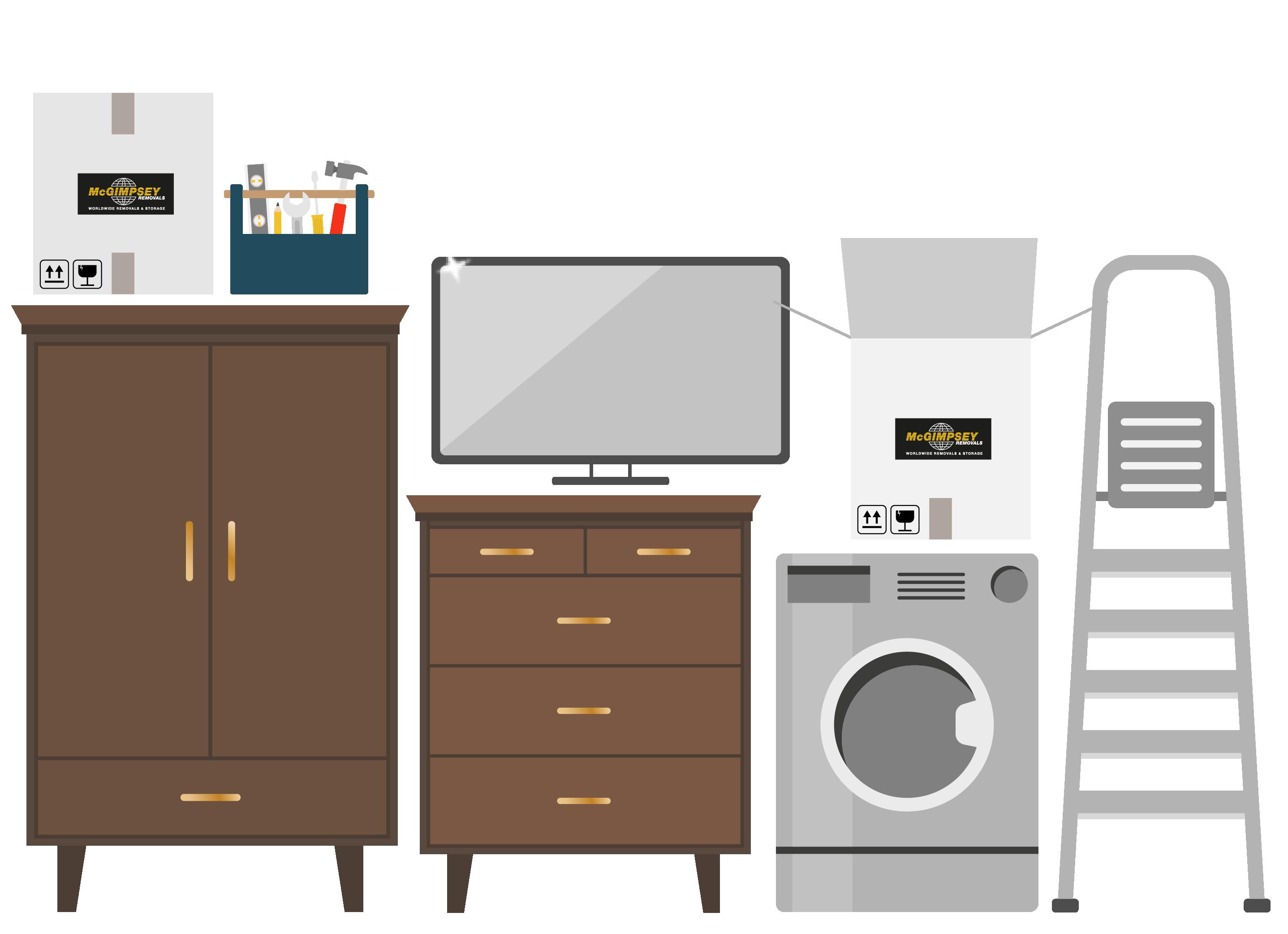 Small Mc Gimpseys illustration furniture