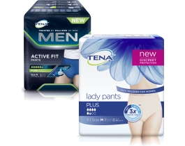 Coupon Sconto di TENA LADY PANTS PLUS E TENA MEN ACTIVE FIT