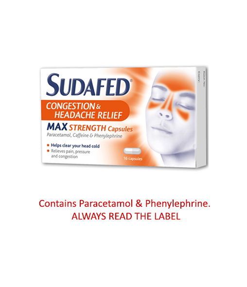 Sudafed Congestion and Headache Max Strength