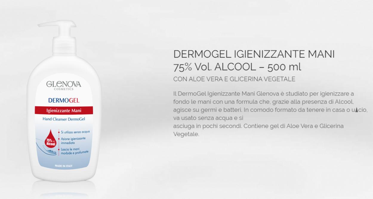 DERMOGEL IGIENIZZ. MANI ALCOOL75% VOL. 500ml 10605