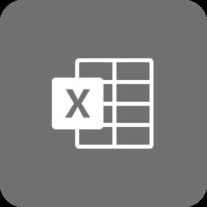 Excel-logo (gråt)