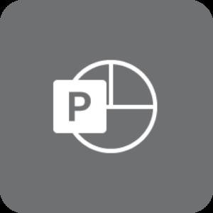 PowerPoint-logo (gråt)