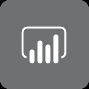 Power BI-logo (gråt)
