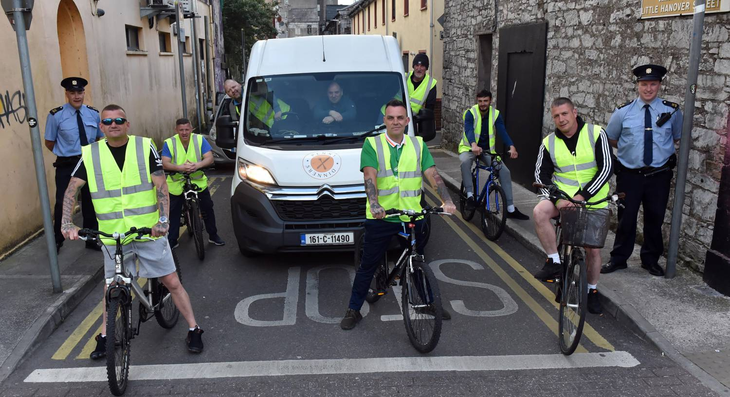Knight Riders bike around Cork city to deliver food to the homeless for Cork Penny Dinners