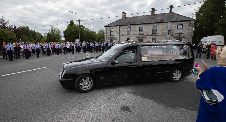 Ballaghaderreen stands in silent tribute to slain garda, Colm Horkan