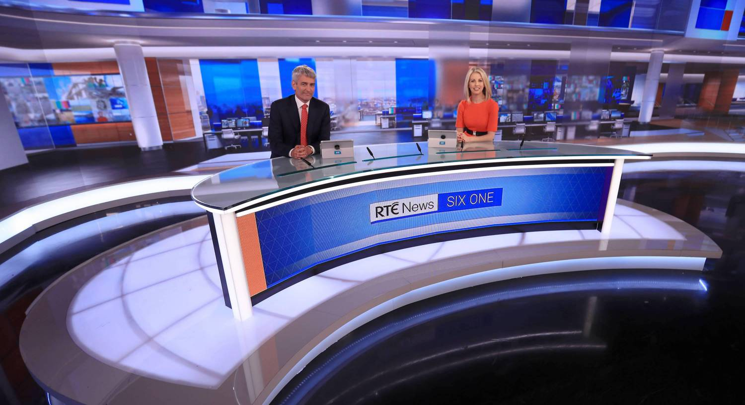 David McCullagh and Caitriona Perry who will begin presenting RTE