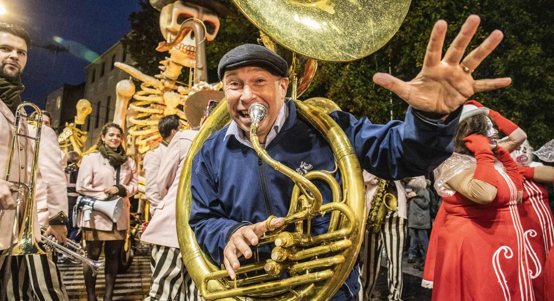 Tolne Bastings of Lamarotte Jazz Band at a previous year
