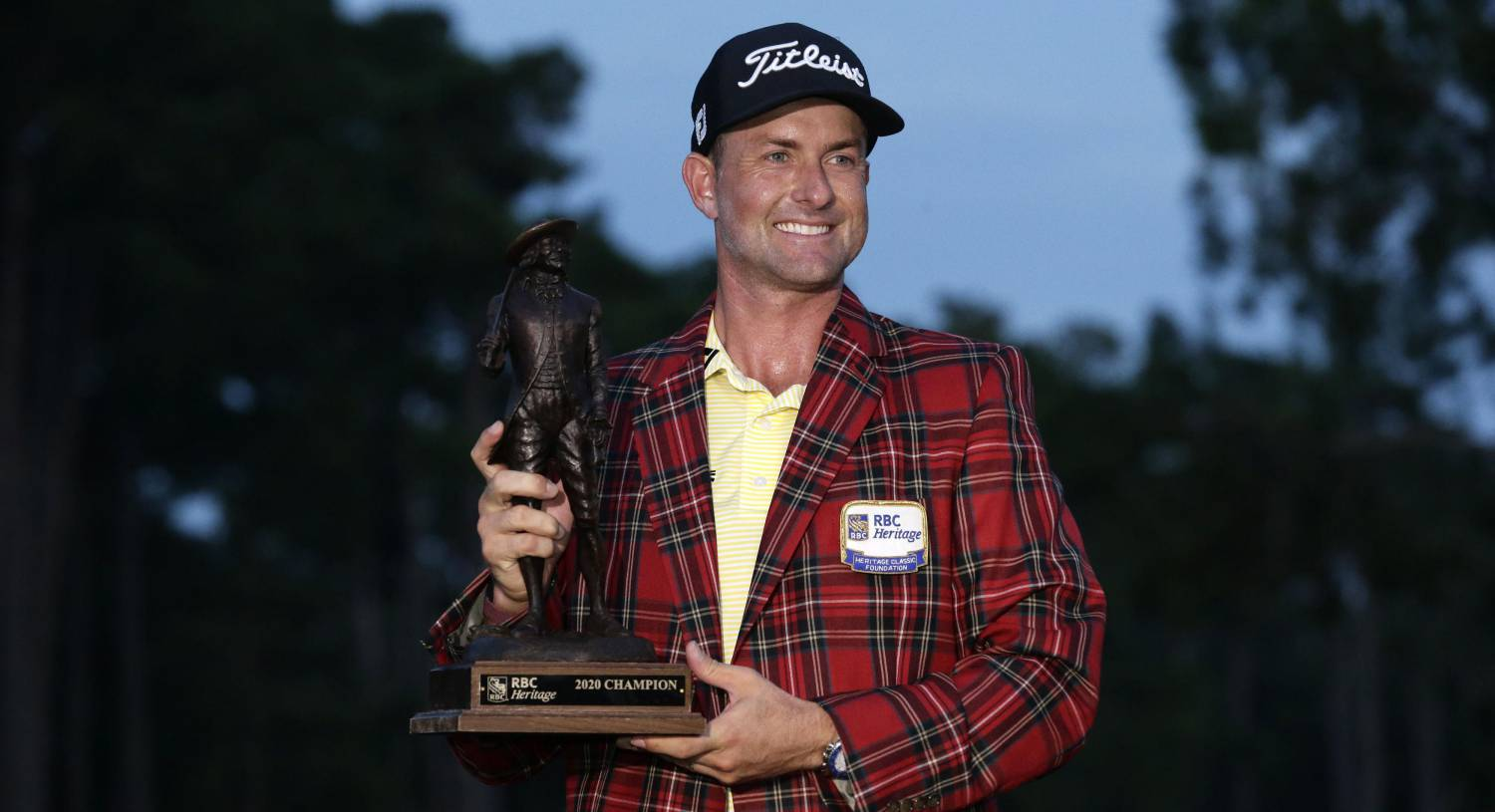 Webb Simpson claims RBC Heritage crown with tournament record score