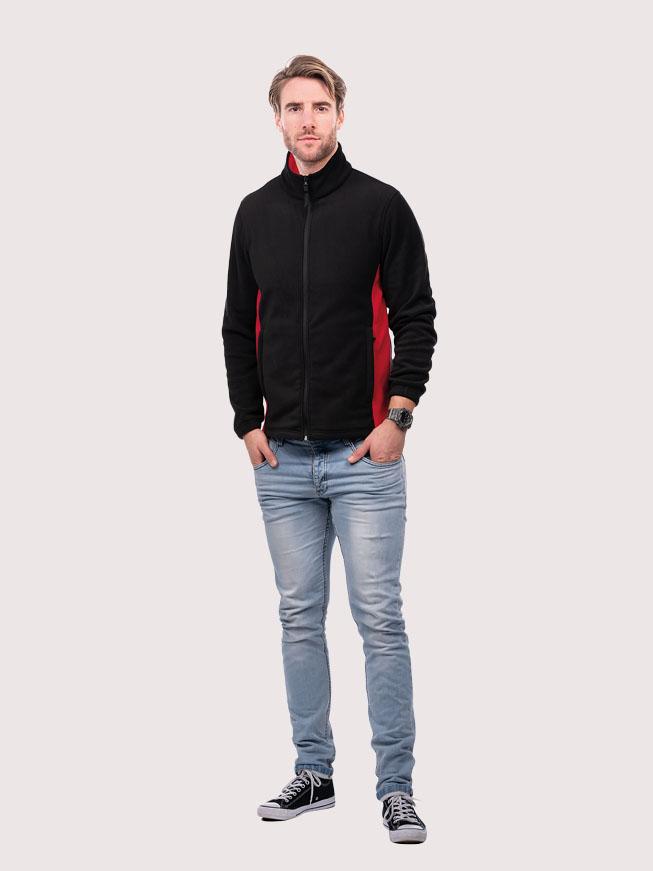 Two Tone Full Zip Fleece Jacket