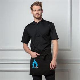 Mens Bar Shirt Mandarin Collar Short Sleeve