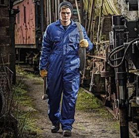 Redhawk economy stud front coverall