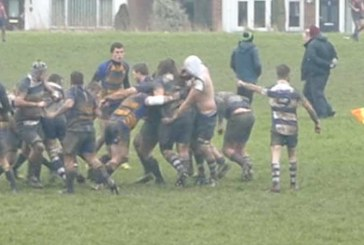 VIDEO: Getting shirty at Swindon rugby match