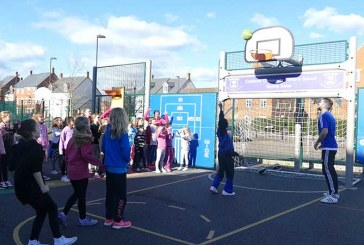 VIDEO: Shooting hoops at Draycott Sports Camp